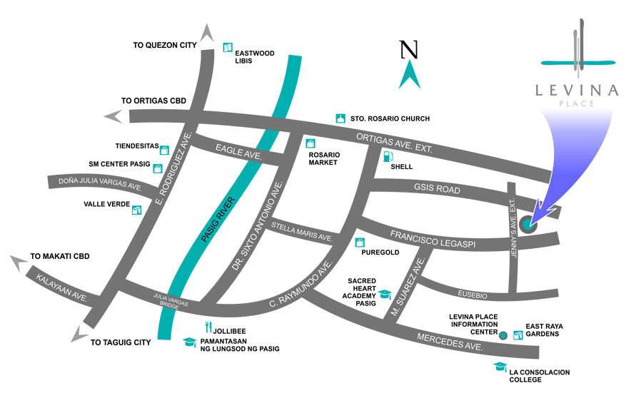 Levina Place Location Map