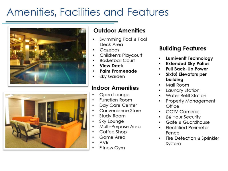 Amenities Facitilies and Features