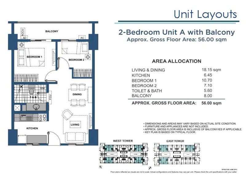 2 Bedroom A with Balcony