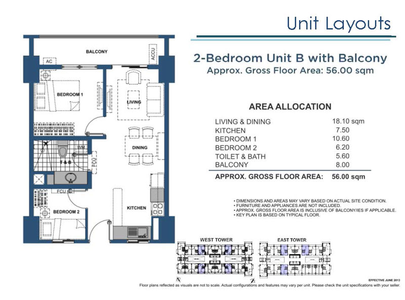 2 Bedroom B with Balcony