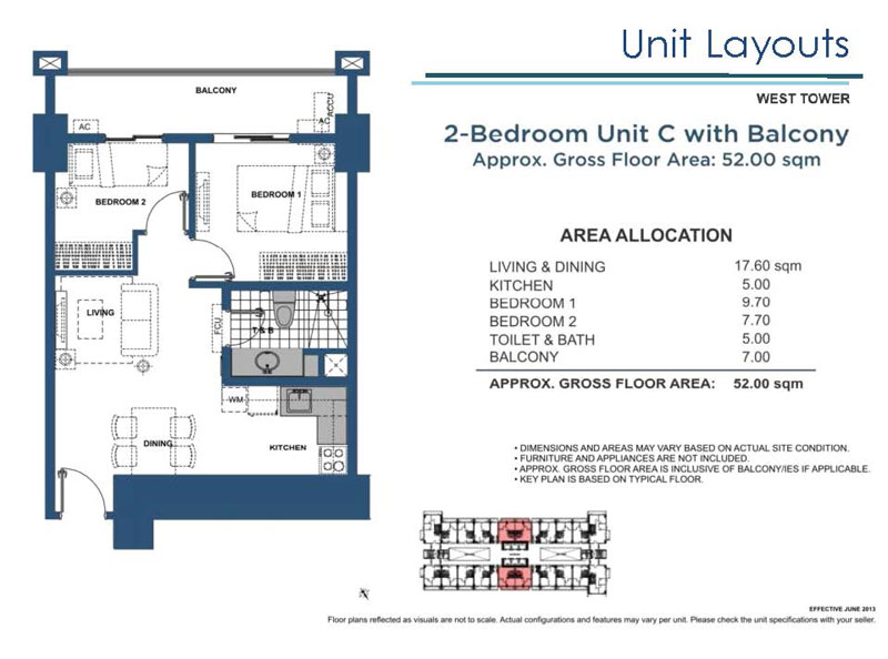 2 Bedroom C with Balcony