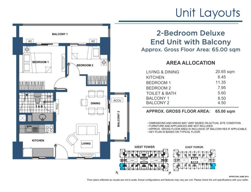 2 Bedroom Deluxe End Unit with Balcony