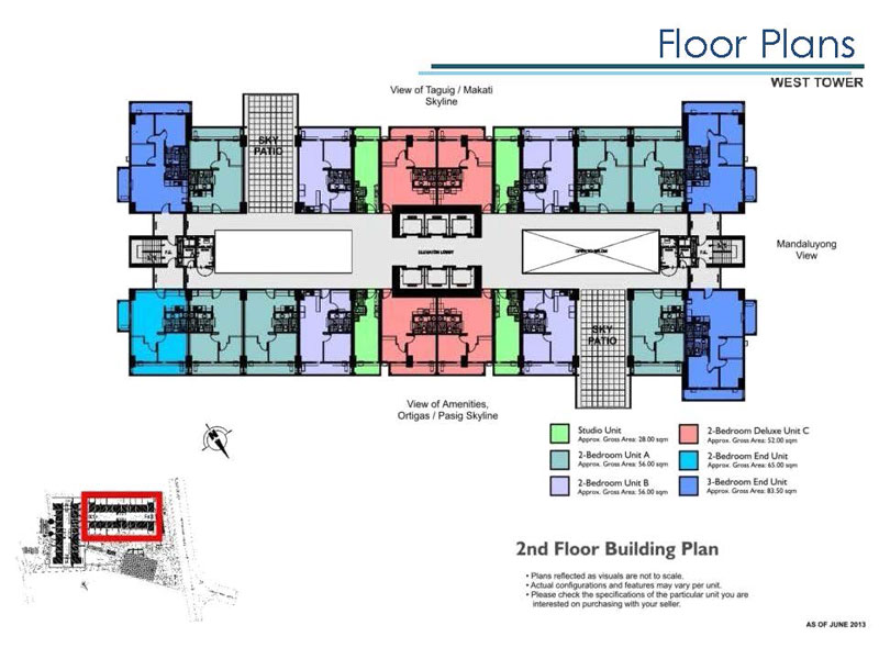 Lumiere West Building Layout