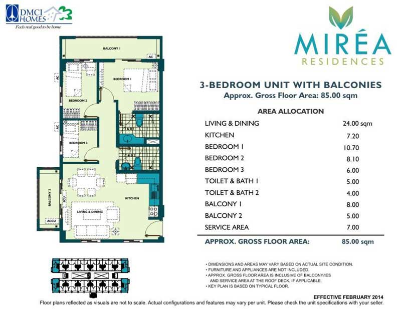3 Bedroom 65 sqm