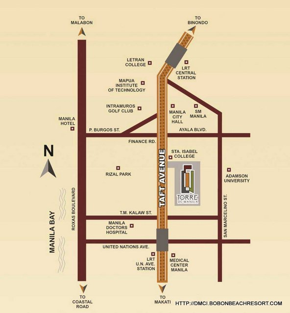 Torre de Manila Location Map
