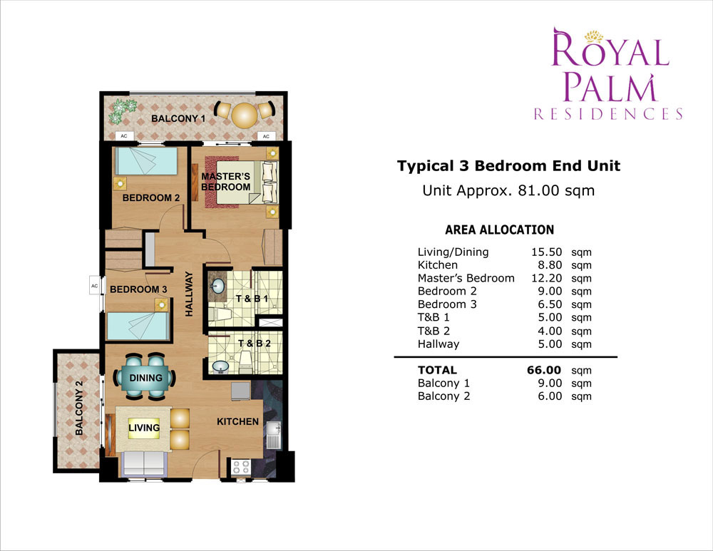 Royal palm residences taguig dmci homes online for Condo plans free