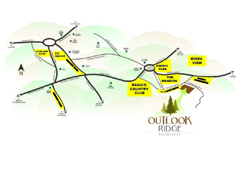 Outlook Ridge Residences Landmarks