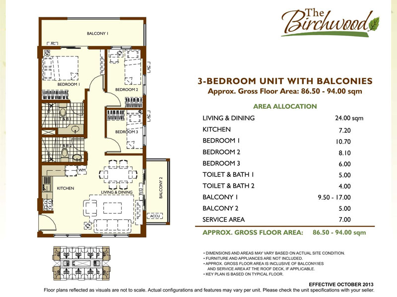 The Birchwood Residences 3BR unit