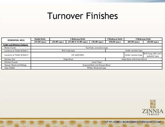 Zinnia Turnover Finishes