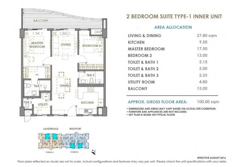 2BR Suite Type 1 799x541
