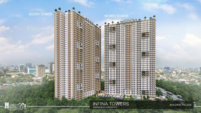Infina Towers DMCI Facade