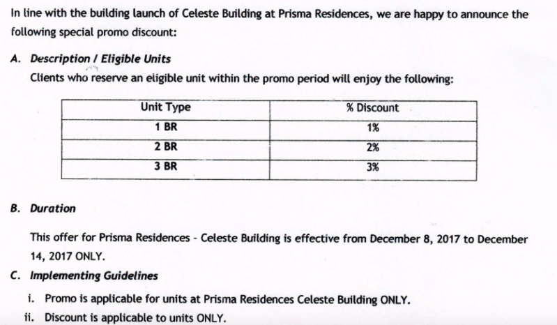 Celeste Building Discounts