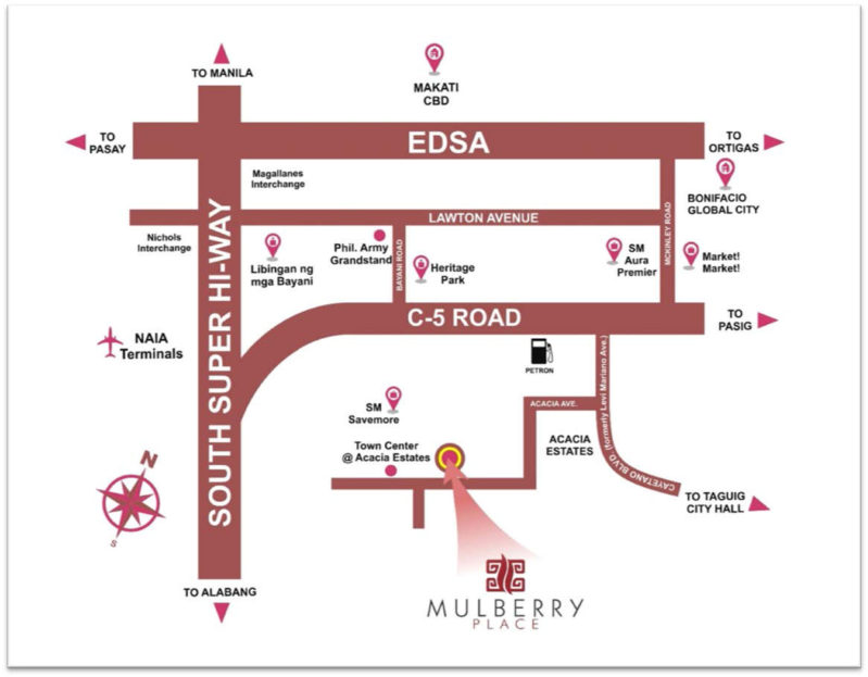 Mulberry Place Location Map