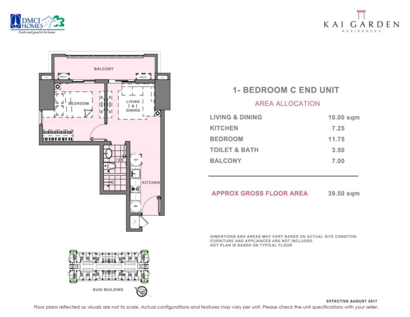 Kai Garden Residences 1 Bedroom C