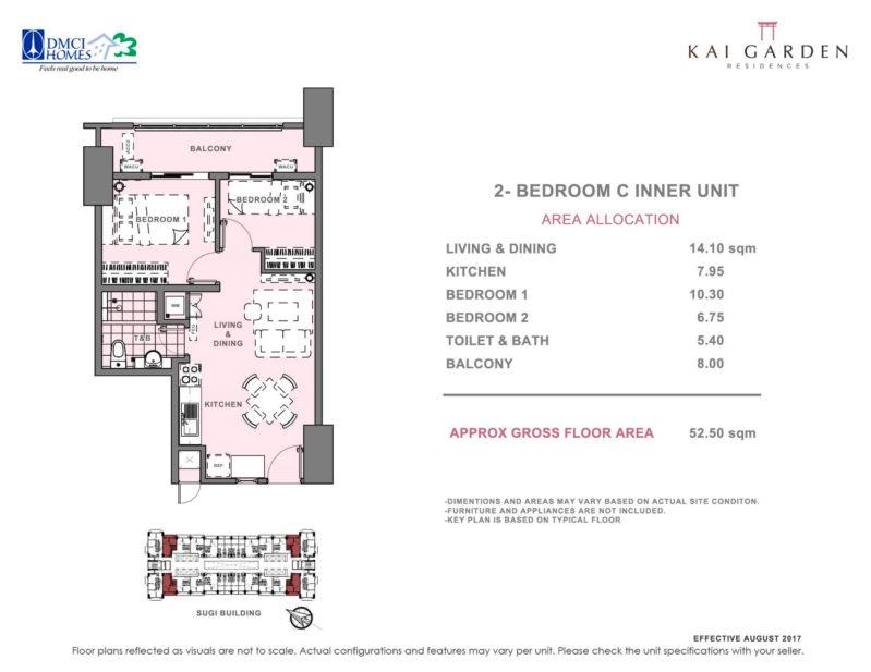 Kai Garden Residences 2 Bedroom C
